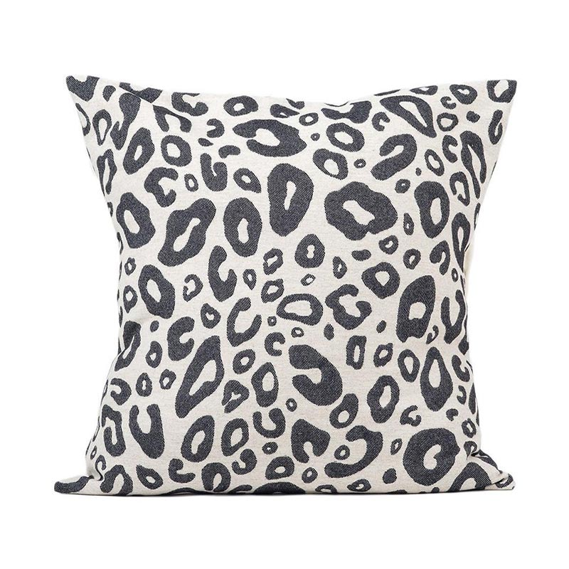 Tori Murphy Hamilton Small Spot Cushion Black on Linen by Tori Murphy
