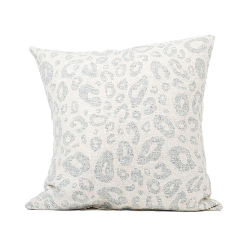 Tori Murphy Hamilton Small Spot Cushion Grey on Linen by Tori Murphy