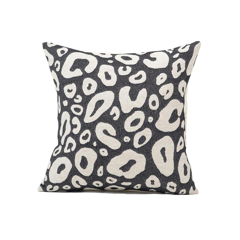 Tori Murphy Hamilton Small Spot Cushion Linen on Black by Tori Murphy