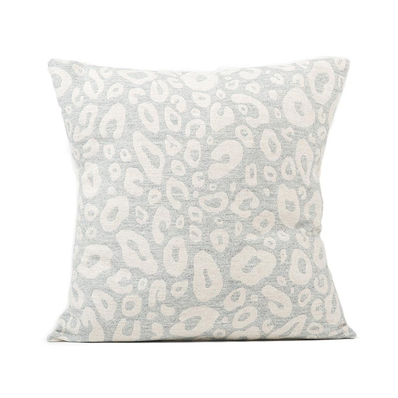 Tori Murphy Hamilton Small Spot Cushion Linen on Grey by Tori Murphy