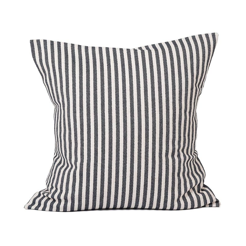 Tori Murphy Harbour Stripe Cushion Graphite & Ecru by Tori Murphy Olson and Baker - Designer & Contemporary Sofas, Furniture - Olson and Baker showcases original designs from authentic, designer brands. Buy contemporary furniture, lighting, storage, sofas & chairs at Olson + Baker.