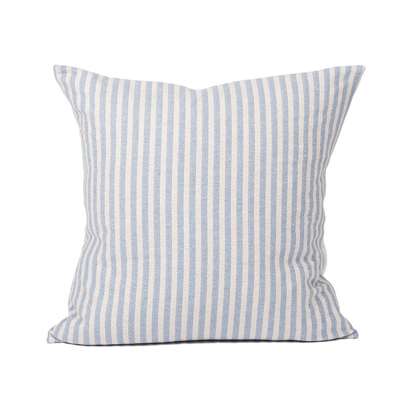 Tori Murphy Harbour Stripe Cushion Smoke & Ecru by Tori Murphy
