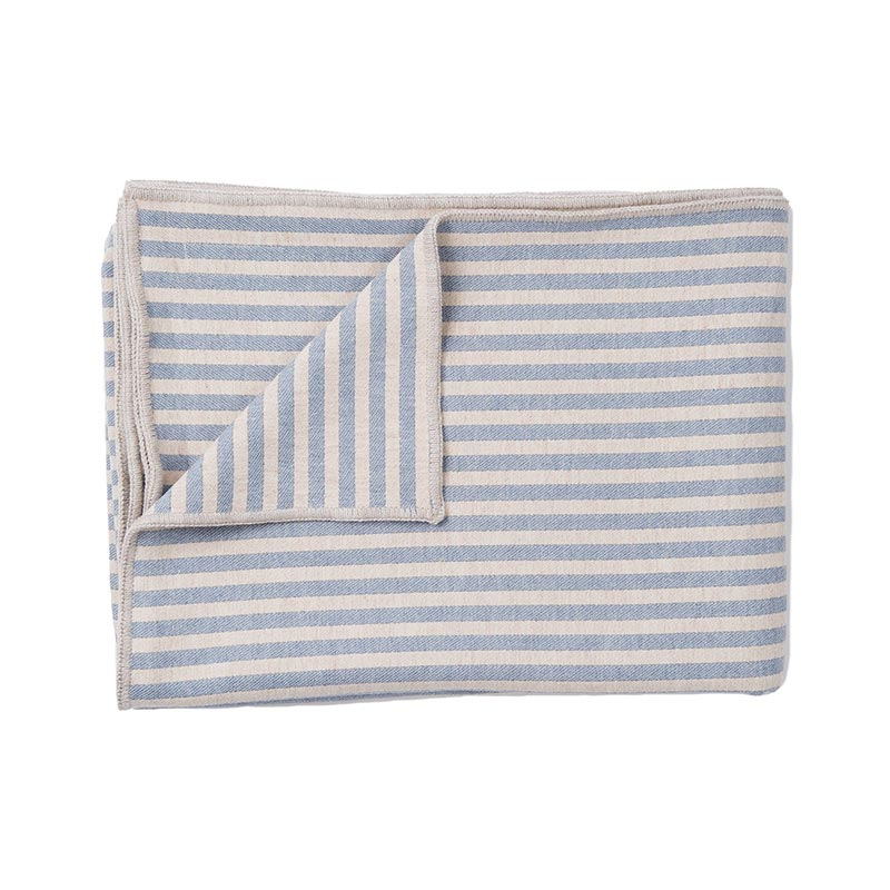 Tori Murphy Harbour Stripe Throw Smoke & Ecru by Tori Murphy