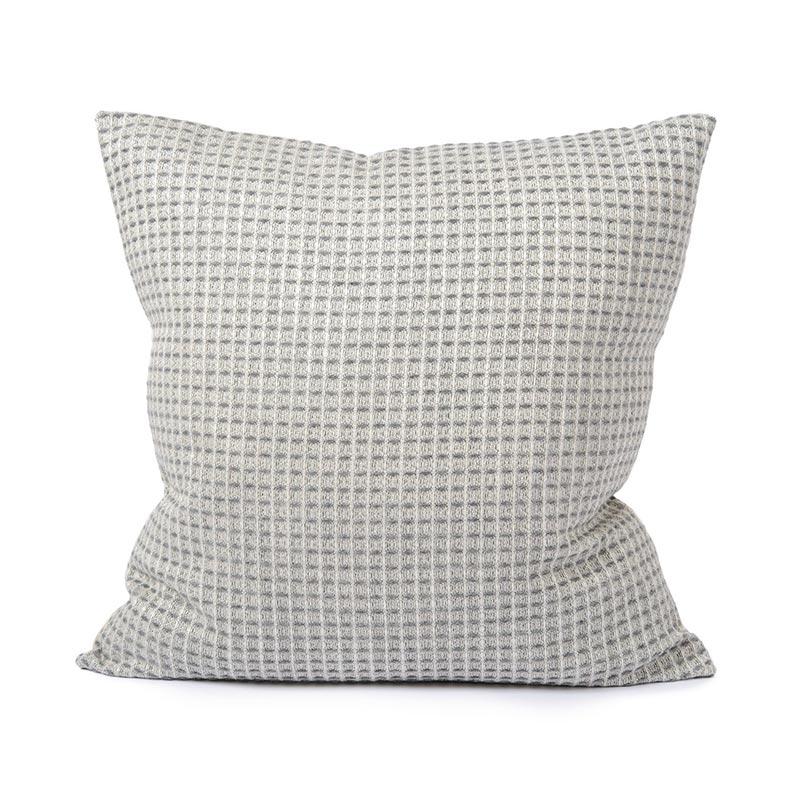 Tori Murphy Holkham Waffle Cushion Grey by Tori Murphy