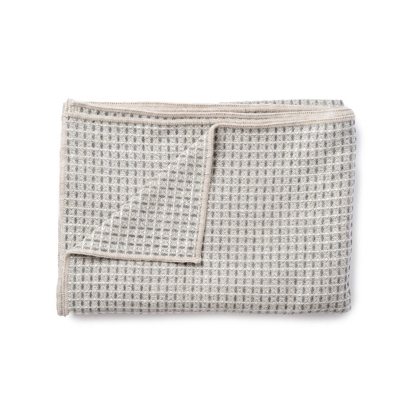 Tori Murphy Holkham Waffle Throw Grey by Tori Murphy