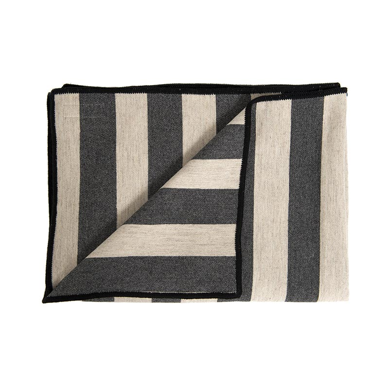 Tori Murphy Marshall Stripe Throw Coal & Linen by Tori Murphy