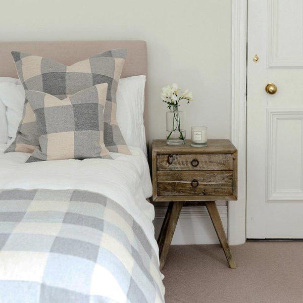 Woodhouse Check Cushion Grey