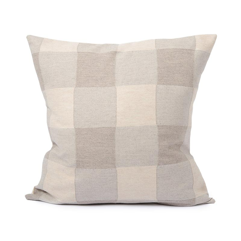 Tori Murphy Woodhouse Check Cushion Mushroom by Tori Murphy
