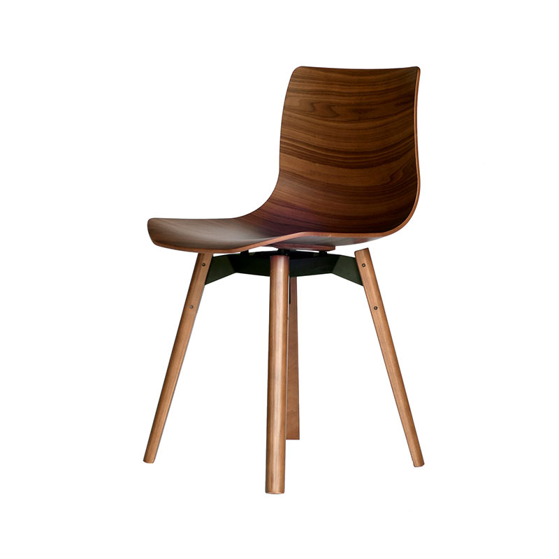 Case Furniture Loku Chair with Wood Base by Shin Azumi
