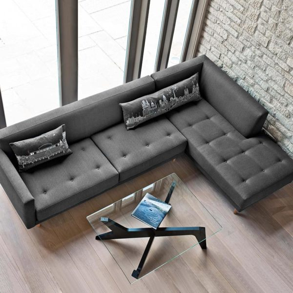 Metropolis Three Seat Right Hand Facing Corner Sofa