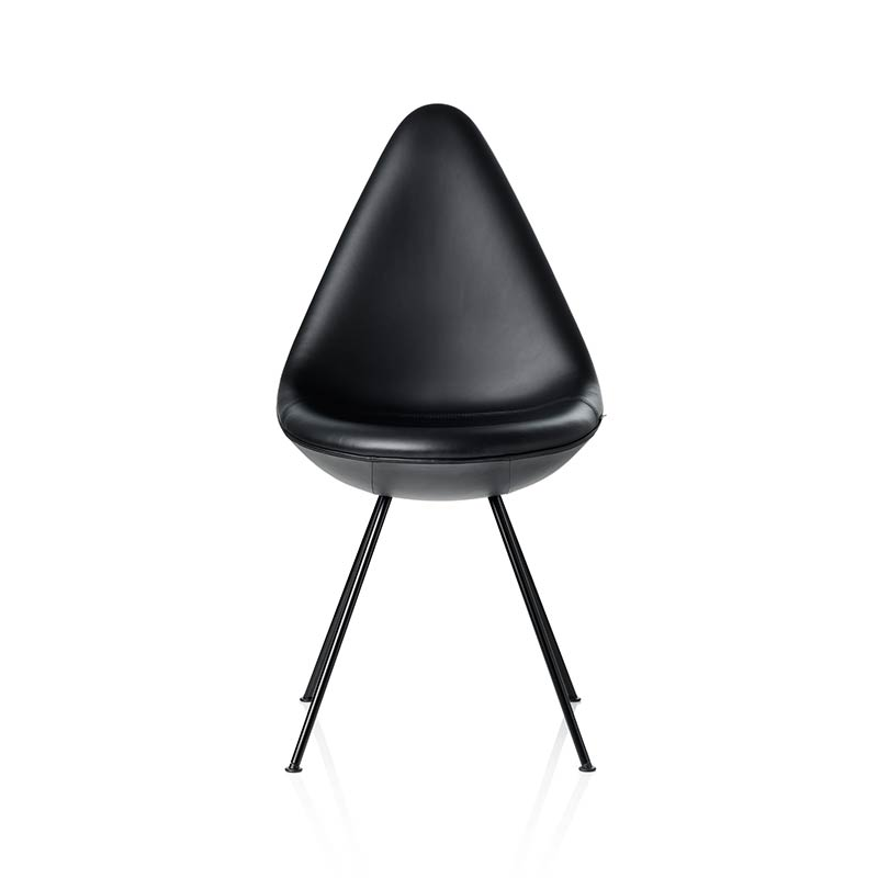 Fritz Hansen Drop Fully Upholstered Chair by Arne Jacobsen