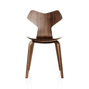 Fritz Hansen Grand Prix Chair with Wood Legs by Arne Jacobsen