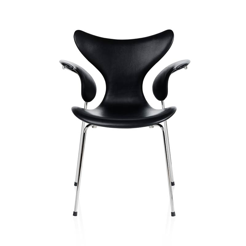 Fritz Hansen Lily Fully Upholstered Armchair by Arne Jacobsen