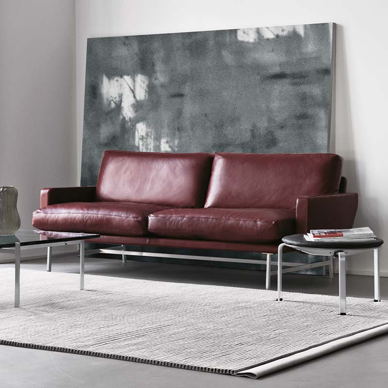 Fritz-Hansen-Lissoni-Two-Seat-Sofa-by-Piero-Lissoni-1 Olson and Baker - Designer & Contemporary Sofas, Furniture - Olson and Baker showcases original designs from authentic, designer brands. Buy contemporary furniture, lighting, storage, sofas & chairs at Olson + Baker.