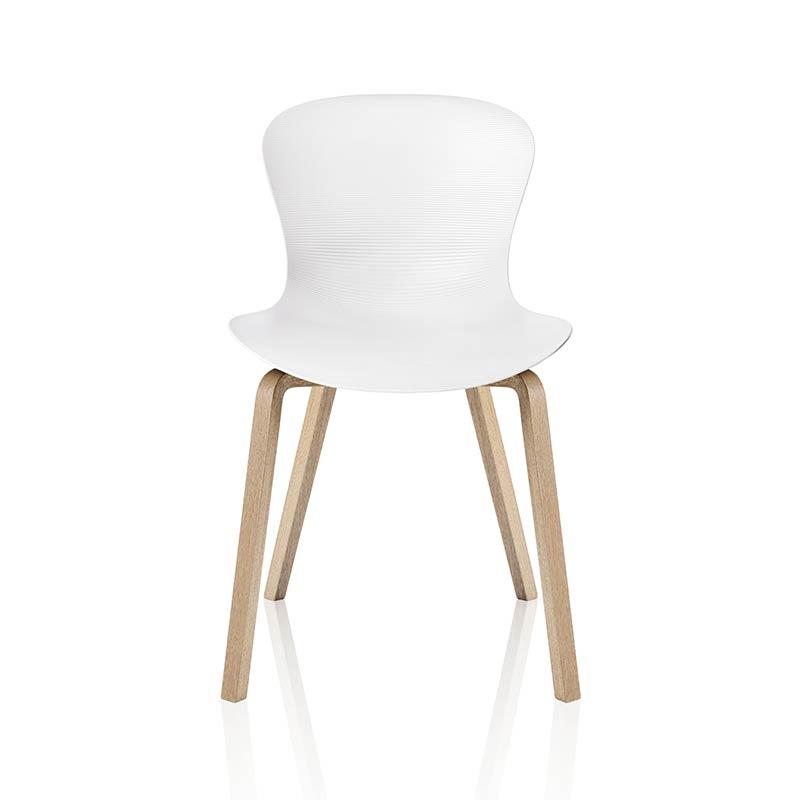 Fritz Hansen NAP Chair with Wood Legs by Kasper Salto Olson and Baker - Designer & Contemporary Sofas, Furniture - Olson and Baker showcases original designs from authentic, designer brands. Buy contemporary furniture, lighting, storage, sofas & chairs at Olson + Baker.