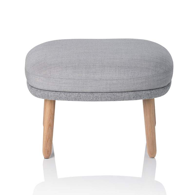 Fritz Hansen Ro Foot Stool with Oak Base by Jaime Hayon Olson and Baker - Designer & Contemporary Sofas, Furniture - Olson and Baker showcases original designs from authentic, designer brands. Buy contemporary furniture, lighting, storage, sofas & chairs at Olson + Baker.