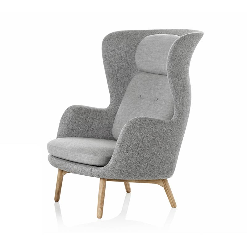Fritz Hansen Ro Lounge Chair with Oak Base by Jaime Hayon