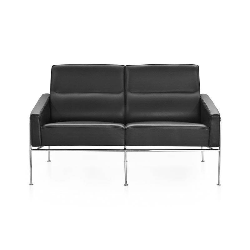 Fritz Hansen Series 3300 Two Seat Sofa by Arne Jacobsen
