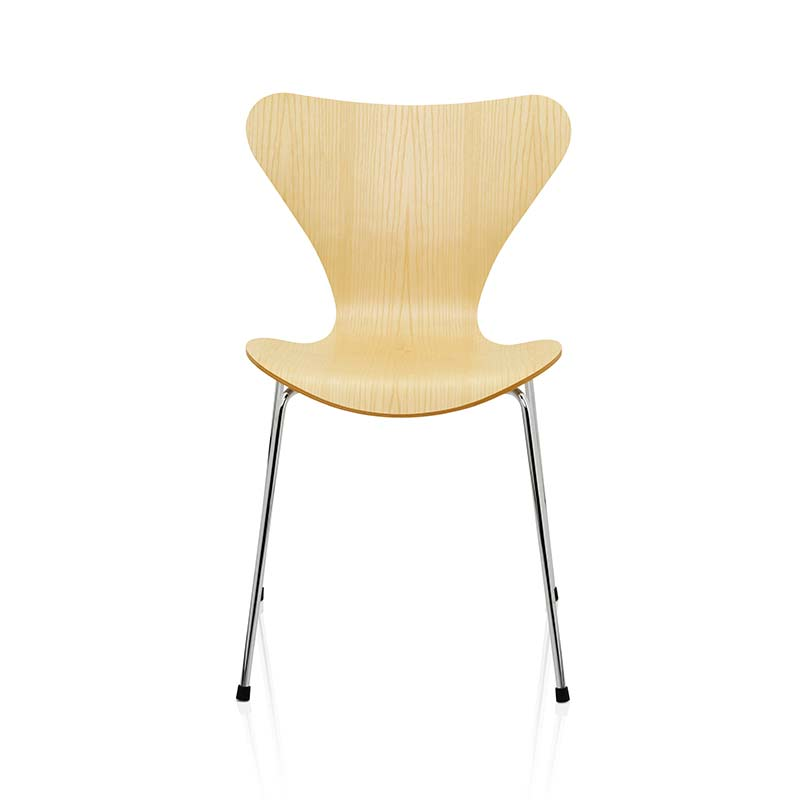 Fritz Hansen Series 7 Chair in Natural Veneer by Arne Jacobsen Olson and Baker - Designer & Contemporary Sofas, Furniture - Olson and Baker showcases original designs from authentic, designer brands. Buy contemporary furniture, lighting, storage, sofas & chairs at Olson + Baker.