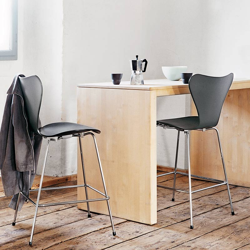Fritz-Hansen-Series-7-Low-Bar-Stool-by-Arne-Jacobsen-2 Olson and Baker - Designer & Contemporary Sofas, Furniture - Olson and Baker showcases original designs from authentic, designer brands. Buy contemporary furniture, lighting, storage, sofas & chairs at Olson + Baker.