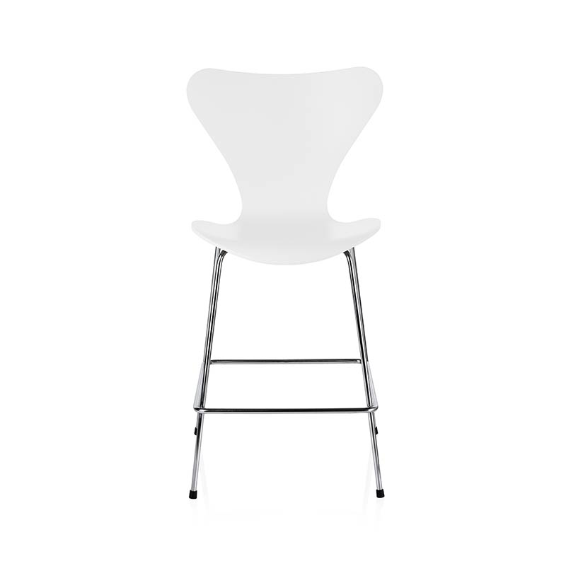 Fritz Hansen Series 7 Counter Stool by Arne Jacobsen Olson and Baker - Designer & Contemporary Sofas, Furniture - Olson and Baker showcases original designs from authentic, designer brands. Buy contemporary furniture, lighting, storage, sofas & chairs at Olson + Baker.