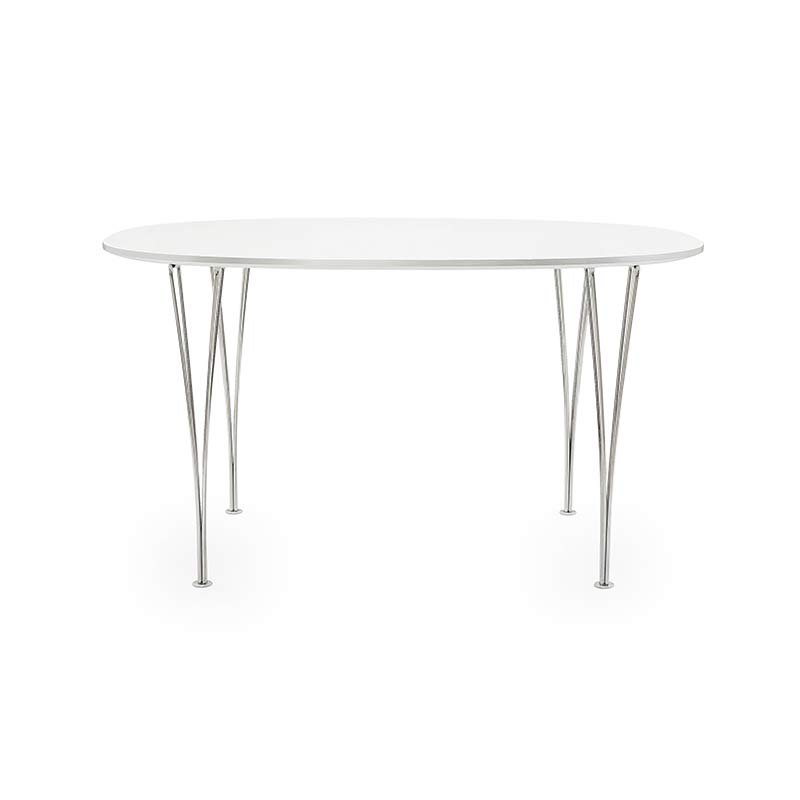 Fritz Hansen Table Series Super Circular Round Ø100cm Table by Piet Hein, Bruno Mathsson, Arne Jacobsen