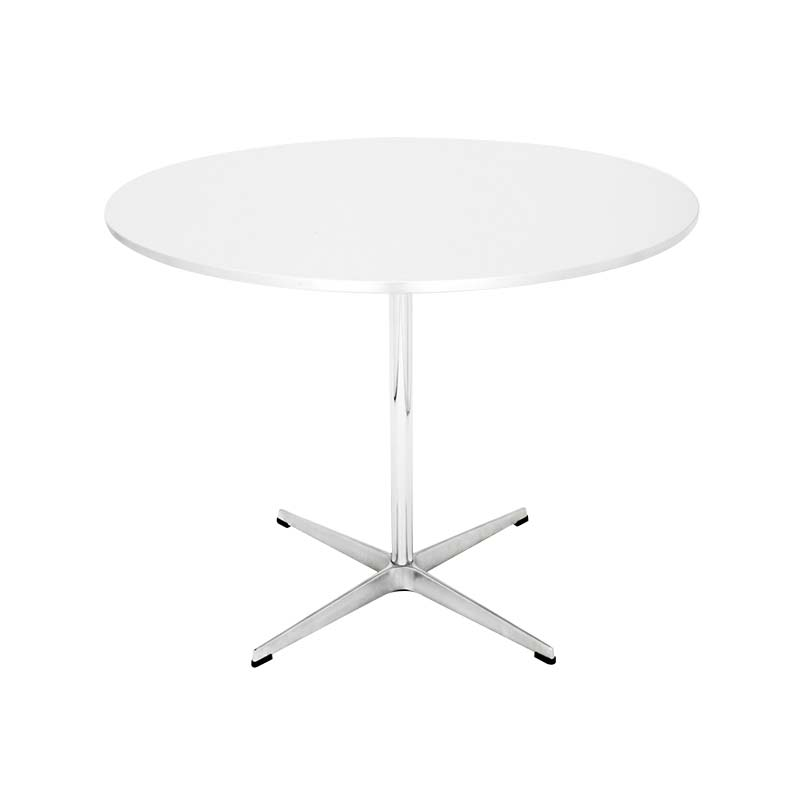 Fritz Hansen Table Series Super Circular Round Ø75cm Pedestal Table by Piet Hein, Bruno Mathsson, Arne Jacobsen