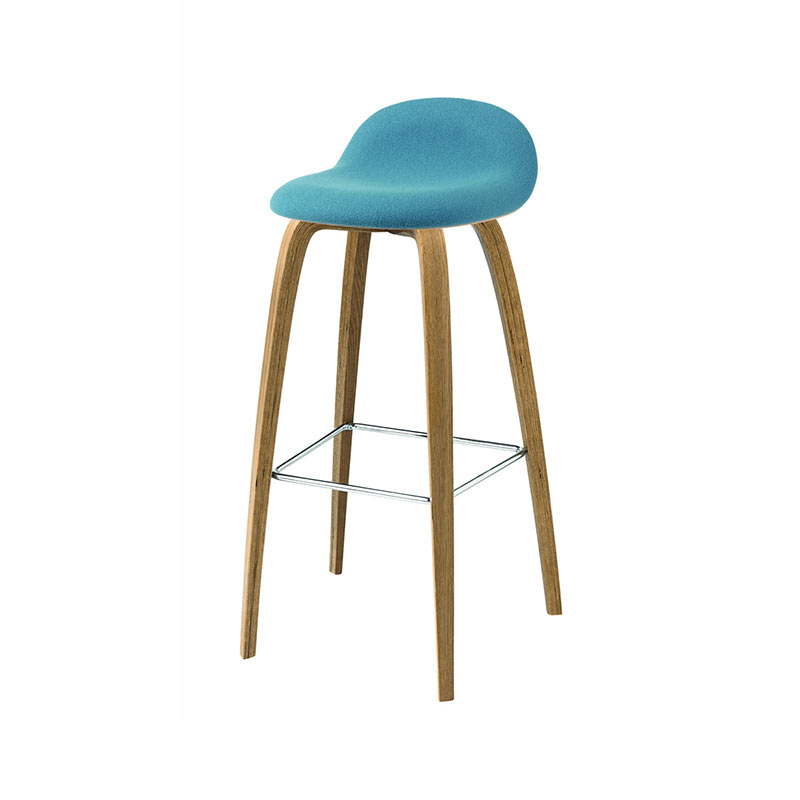 Gubi 3D Front Upholstered High Bar Stool by Komplot Design