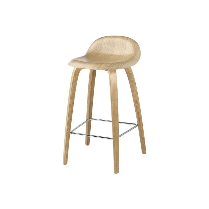 Gubi 3D Low Bar Stool by Komplot Design