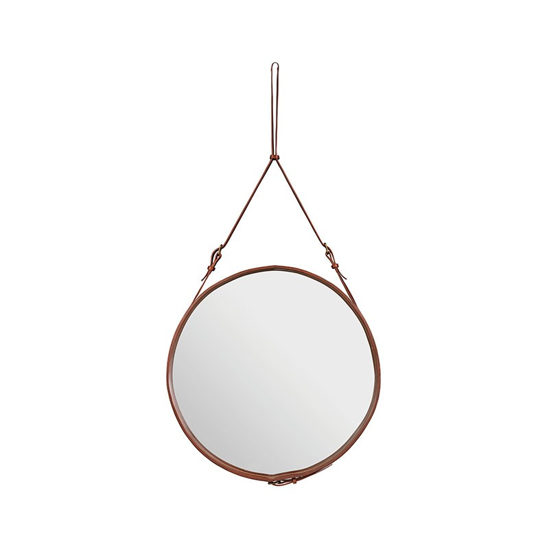 Gubi Adnet Circular Wall Mirror by Jacques Adnet
