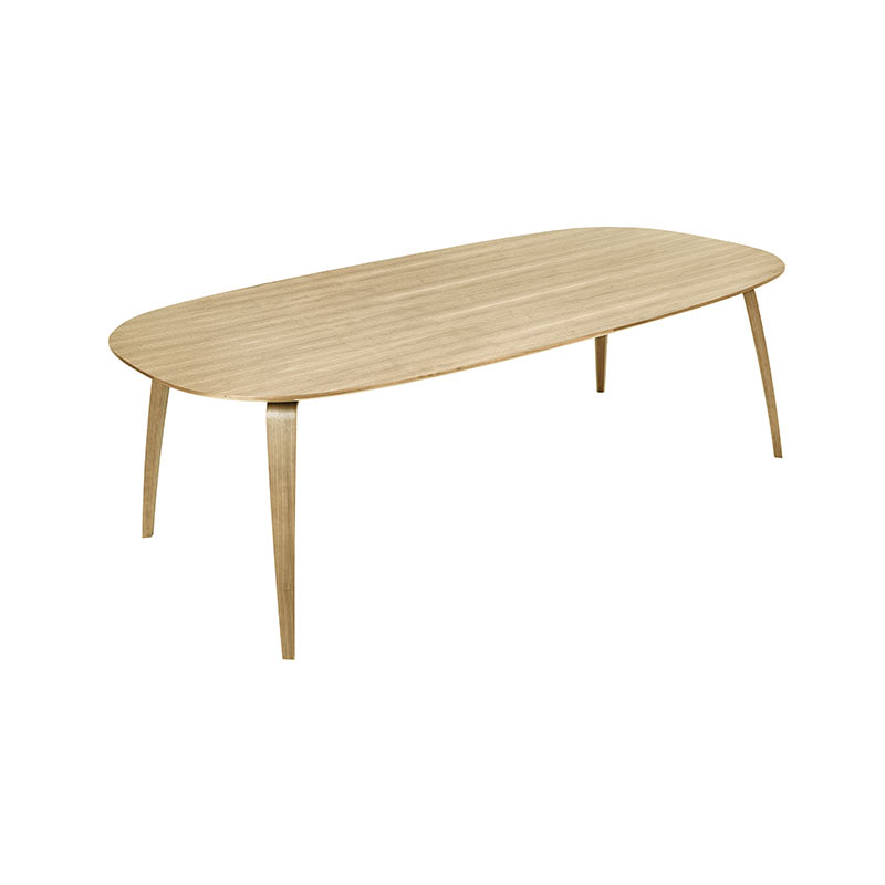 Gubi Komplot Elliptical 100x200cm Dining Table by Komplot Design