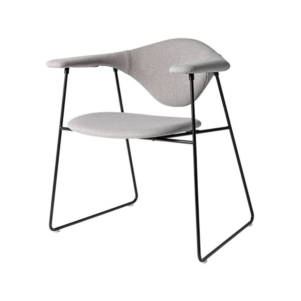 Masculo Dining Chair with Sled Base