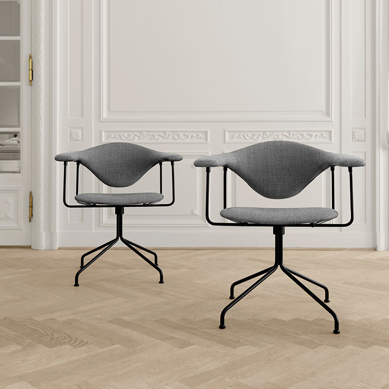 Buy Gubi S Masculo Dining Chair With Swivel Base By