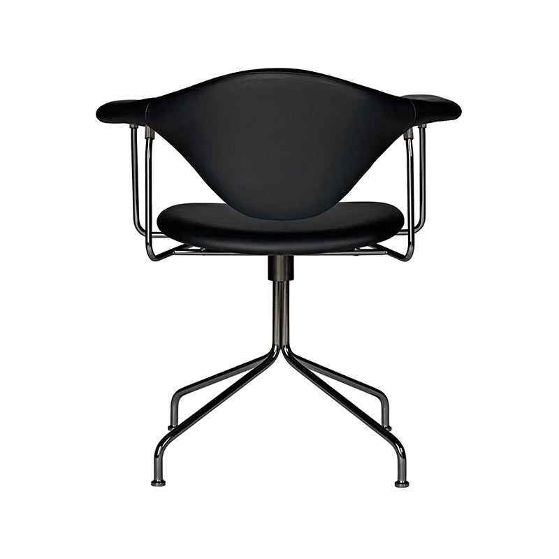 Gubi Masculo Dining Chair with Swivel Base by GamFratesi