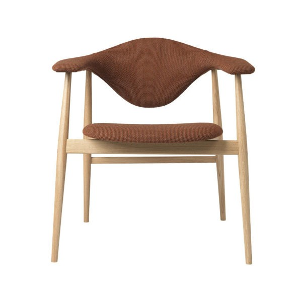 Masculo Dining Chair with Wooden Base