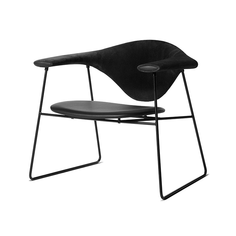 Gubi Masculo Lounge Chair with Sled Base by GamFratesi