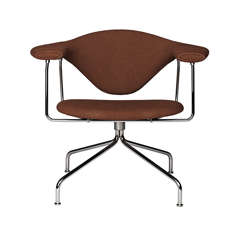 Gubi Masculo Lounge Chair with Swivel Base by GamFratesi