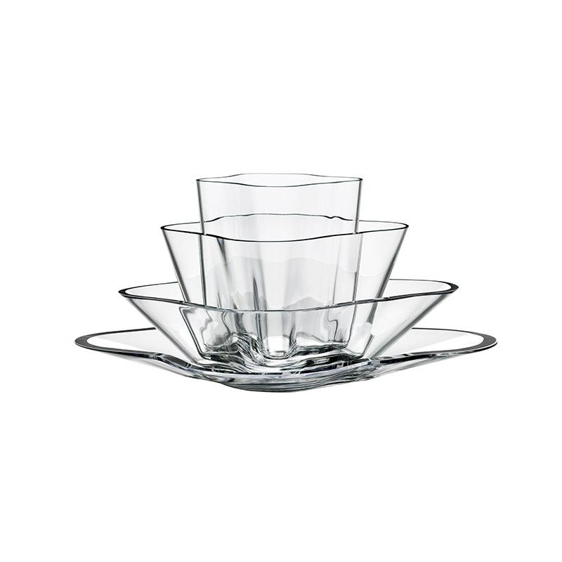 Iittala Aalto 180 x 360mm Flower Bowl Set by Alvar Aalto