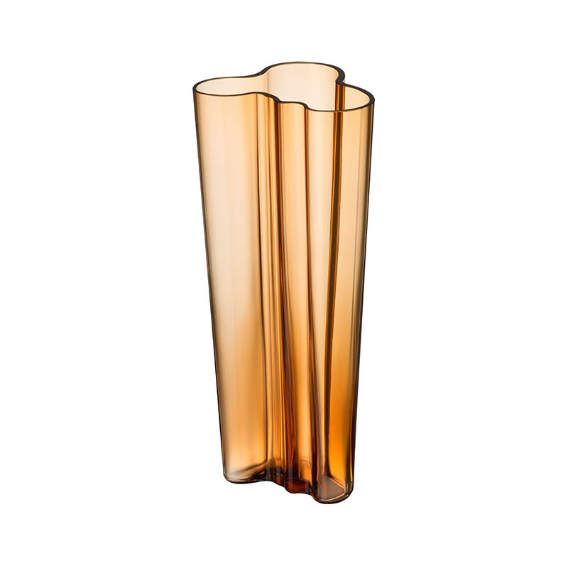 Iittala Aalto 255mm Glass Vase by Alvar Aalto