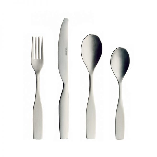 Iittala Citterio 98 Matt Brushed Steel 24 Piece Cutlery Set by Antonio Citterio, Glen Oliver Löw