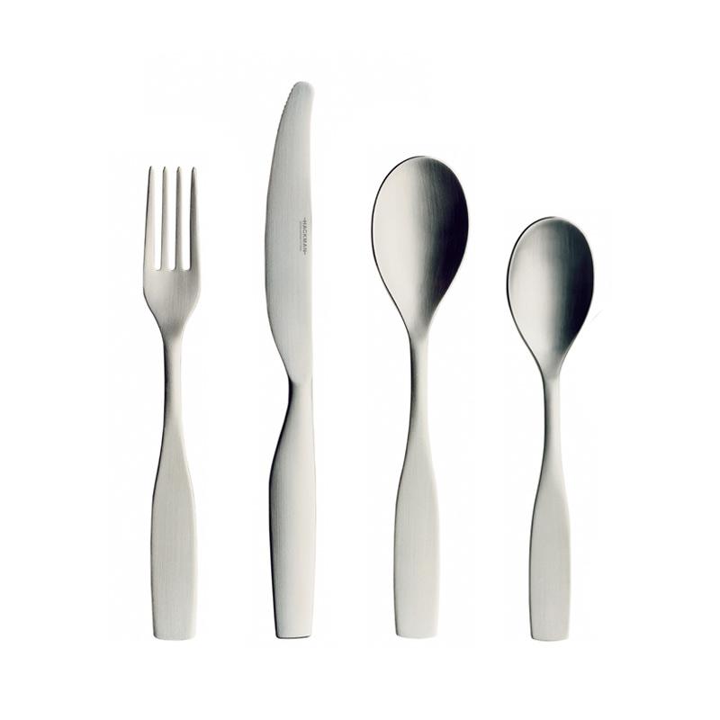 Iittala Citterio 98 Matt Brushed Steel 24 Piece Cutlery Set by Antonio Citterio, Glen Oliver Löw