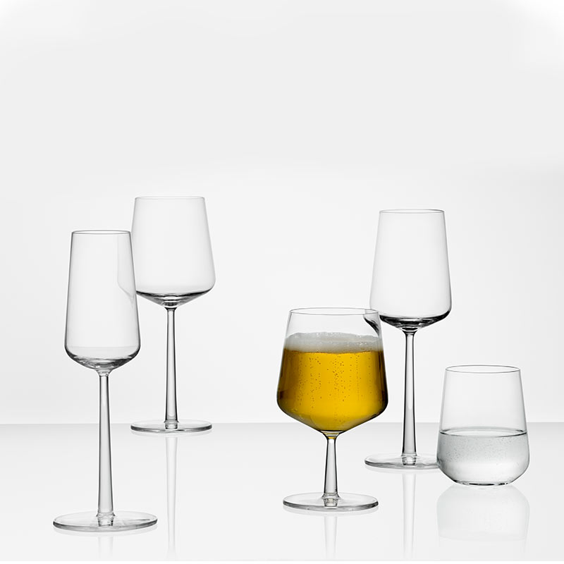 Iittala-Essence-350ml-Tumbler-Glass-Set-of-Six-by-Alfredo-Häberli-1 Olson and Baker - Designer & Contemporary Sofas, Furniture - Olson and Baker showcases original designs from authentic, designer brands. Buy contemporary furniture, lighting, storage, sofas & chairs at Olson + Baker.