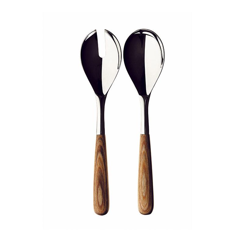 Iittala Piano Polished Steel Serving Set (Spoon & Fork) by Renzo Piano