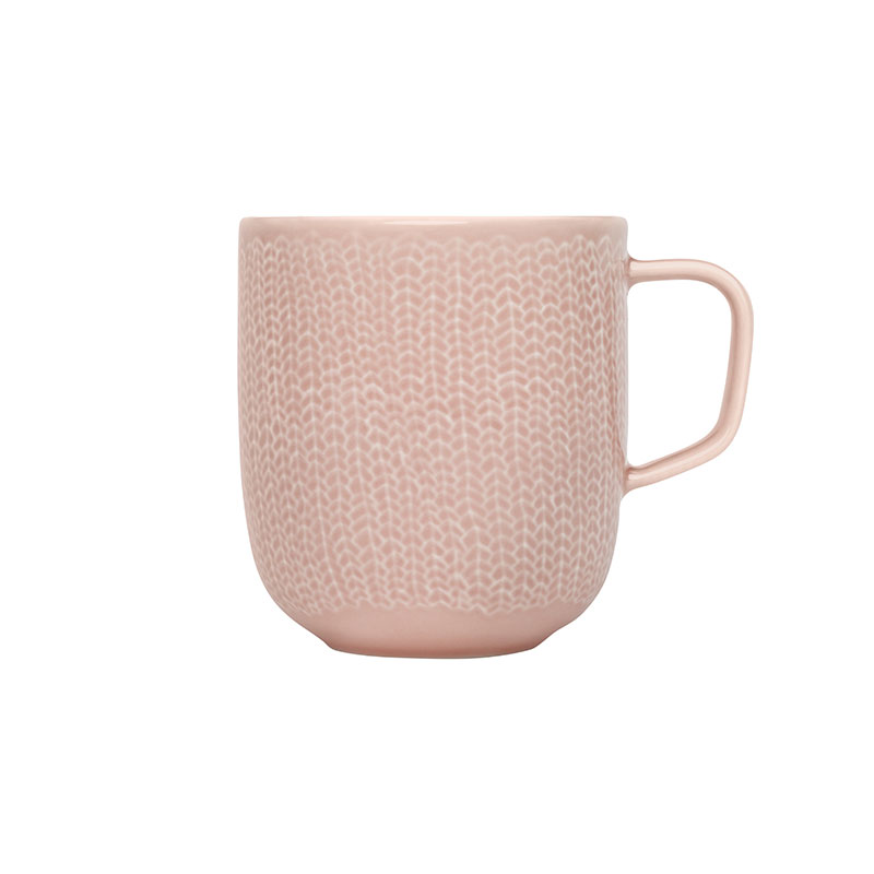 Iittala Sarjaton Old Rose 0.36L Letti Mug - Set of Six by Harri Koskinen, Musuta
