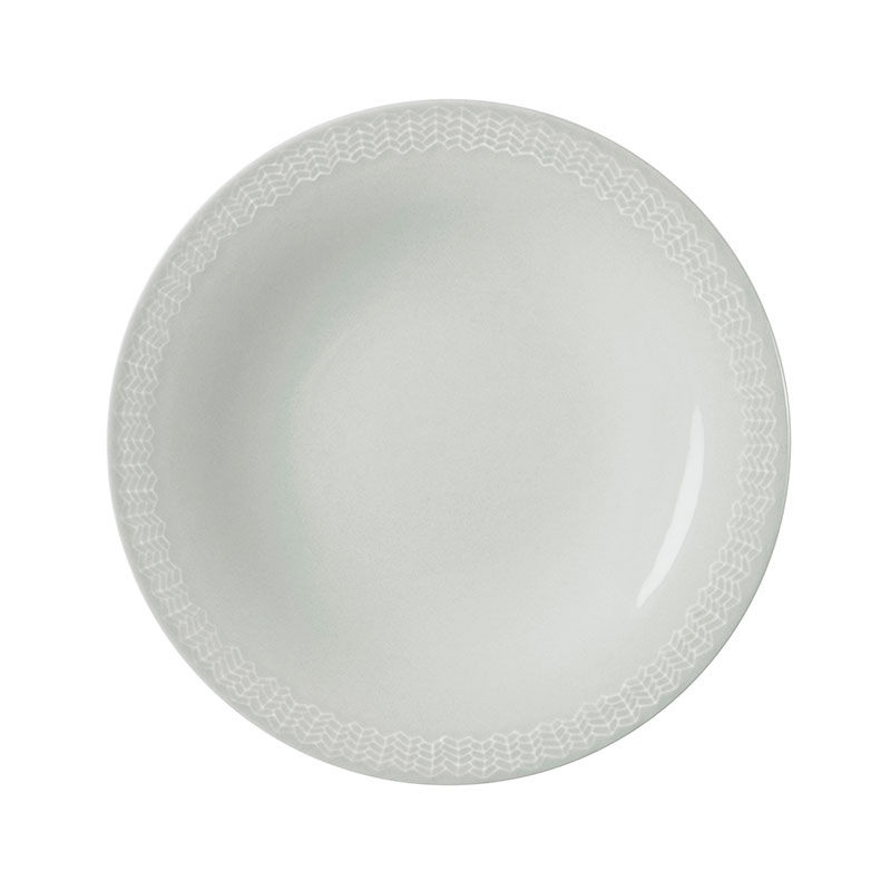 Iittala Sarjaton Pearl Grey 22cm Letti Flat Plate - Set of Six by Harri Koskinen, Musuta