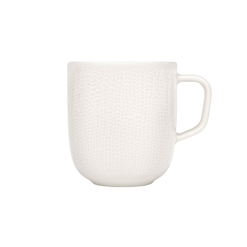 Iittala Sarjaton White 0.36L Letti Mug - Set of Six by Harri Koskinen, Musuta