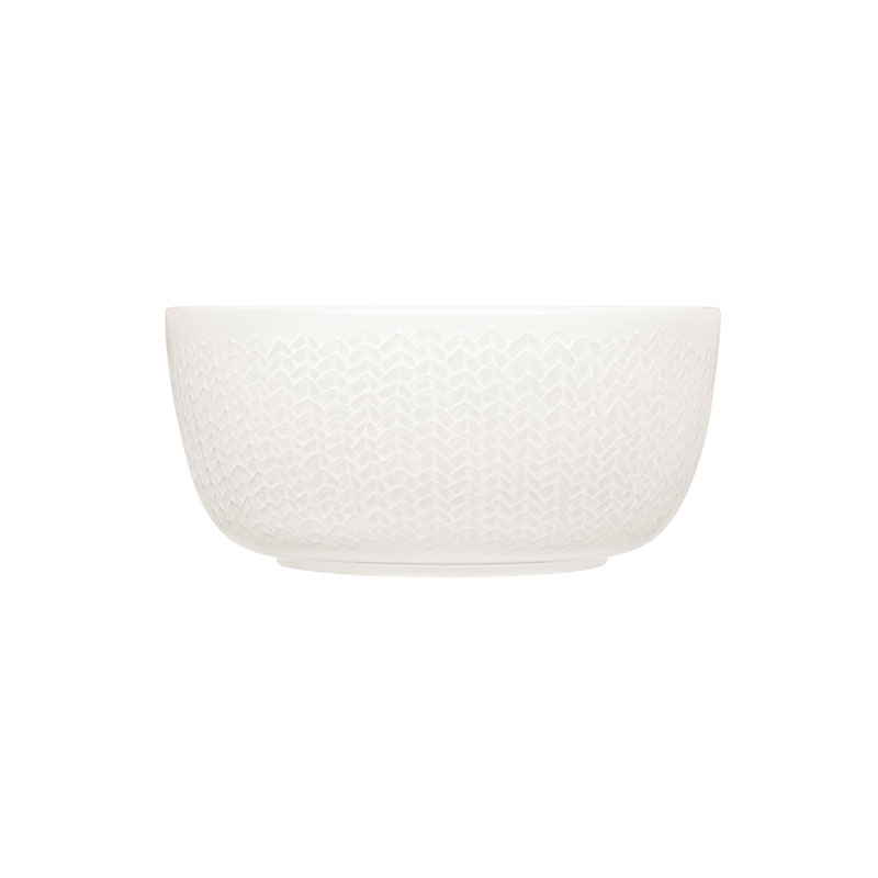 Iittala Sarjaton White 0.68L Letti Bowl - Set of Six by Harri Koskinen, Musuta