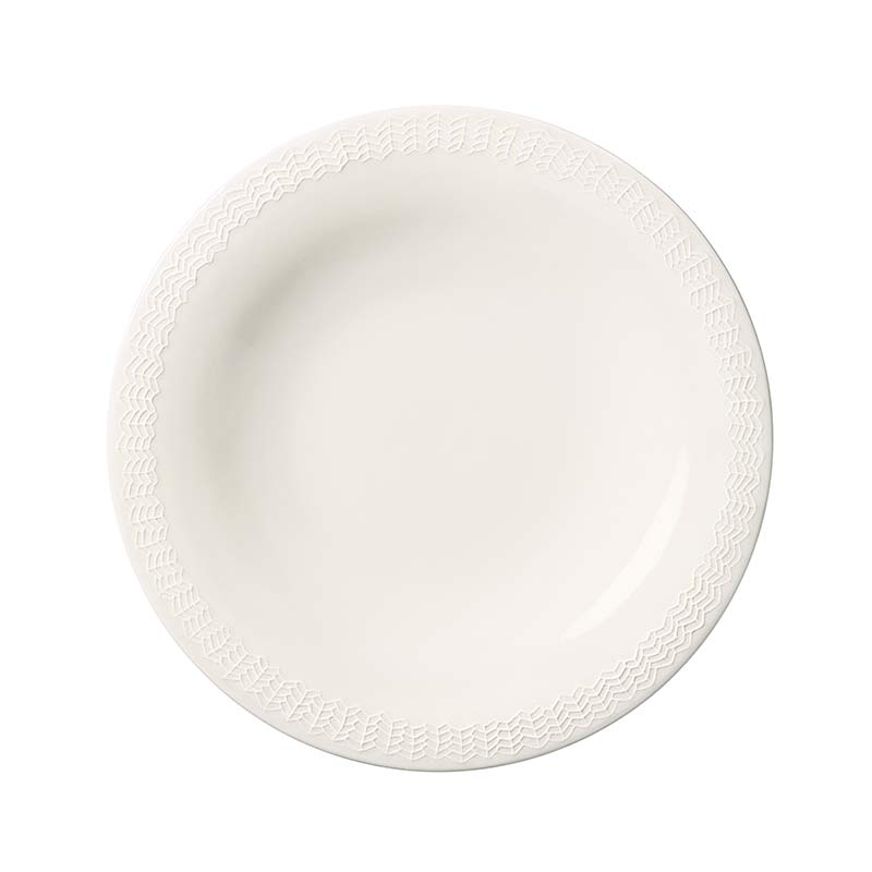 Iittala Sarjaton White 22cm Letti Flat Plate - Set of Six by Harri Koskinen, Musuta