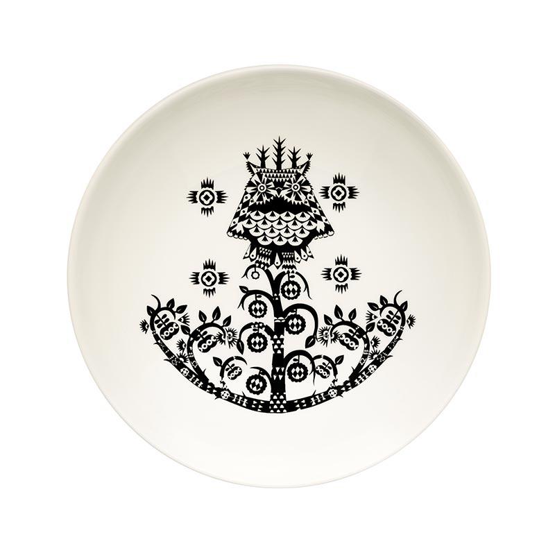 Iittala Taika Black 20cm Deep Plate - Set of Six by Klaus Haapaniemi