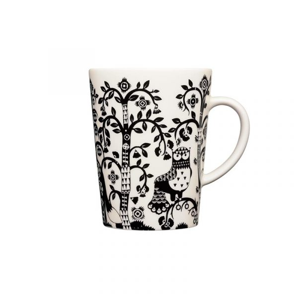 Iittala Taika Black Mug 0.4L – Set of Two by Klaus Haapaniemi